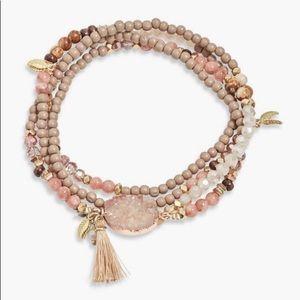 Lucky Brand Beaded Druzy Bracelet